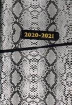 tapijtslang leatherlook 2020/2021 14,8x21 cm Hardcover Indeling:  2 pagina's, 7 dagen