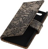 Lace Bookstyle Hoes voor Sony Xperia Z4 Compact Zwart