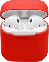 """Studio Air® Airpods Hoesje Siliconen Case - Rood - """"Spicy Silicon Series"""" - Airpod Hoesje geschikt voor Apple AirPods 1 en 2"""