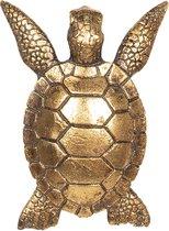 Decoratie schildpad | 13*10*5 cm | Goudkleurig | Kunststof | Schildpad | Clayre & Eef | 6PR2505
