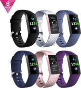 YONO Classic Bandjes - Fitbit Charge 3 en 4 – 6 Pack – Small