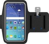 MMOBIEL Sport / Hardloop Armband - voor Samsung - Ook Geschikt voor iPhone, Huawei, Xiaomi etc. - Lengte 140 mm & Breedte 75 mm - Zwart