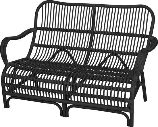 Tuinstoel - tuinzetel - Lounge - Kubu - Rotan - duo zit zwart