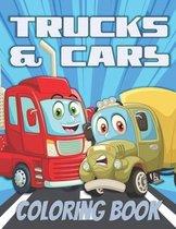 Trucks & Cars Coloring Book