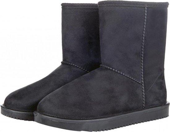 Davos waterdicht en bontgevoerde (stal)schoen  zwart maat 39