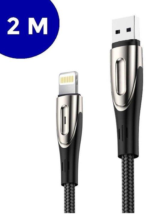 iphone oplader kabel 2 meter met gevlochten nylon van ZEDAR®
