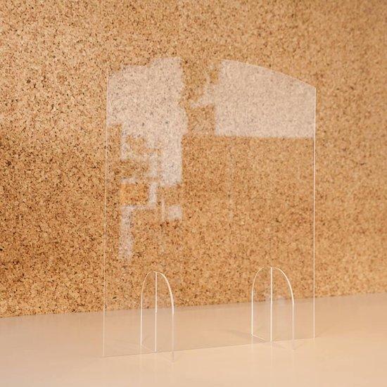 Glas scherm - spatschermen coronavirus - 60 x 75 cm - corona scherm