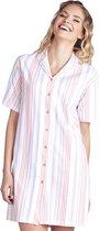 Cybéle Dames Doorknoop Nachthemd - Korte Mouw Maat 38