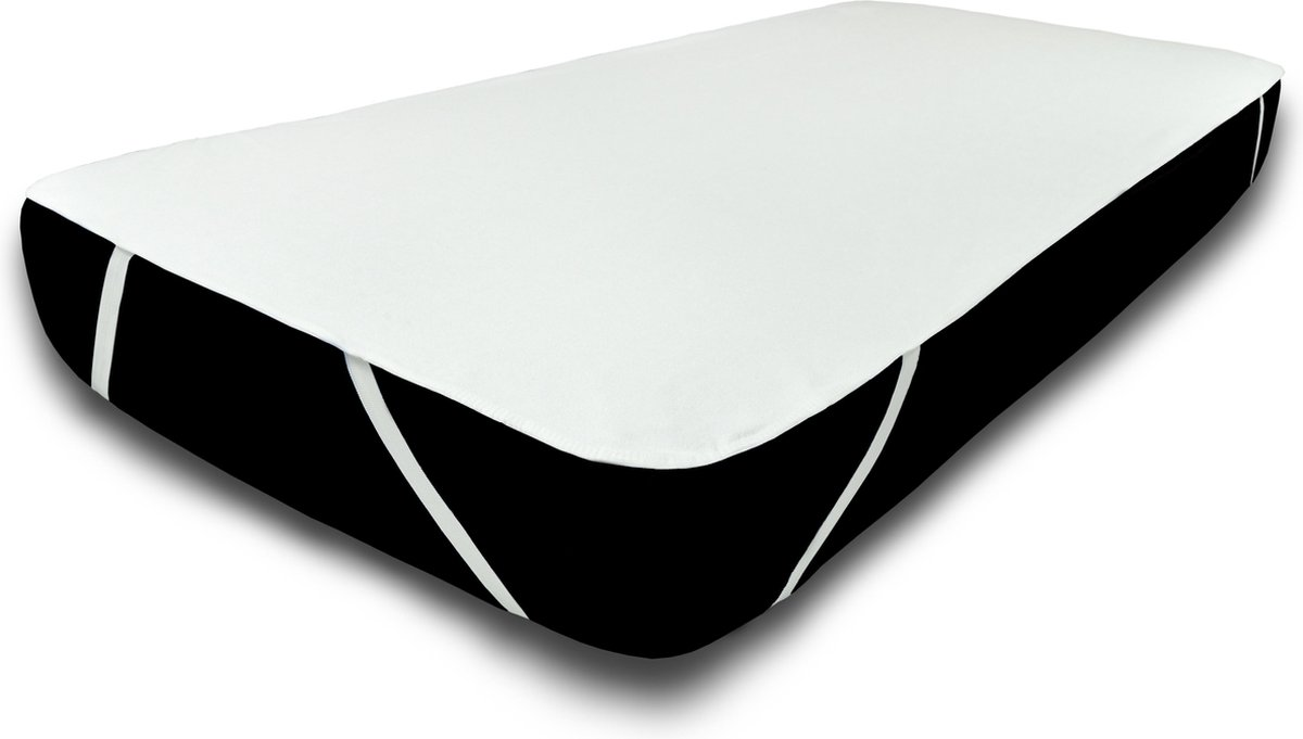 UNIFICATO waterdichte matrasbeschermer 90x200cm - 100% katoenen badstof – wit