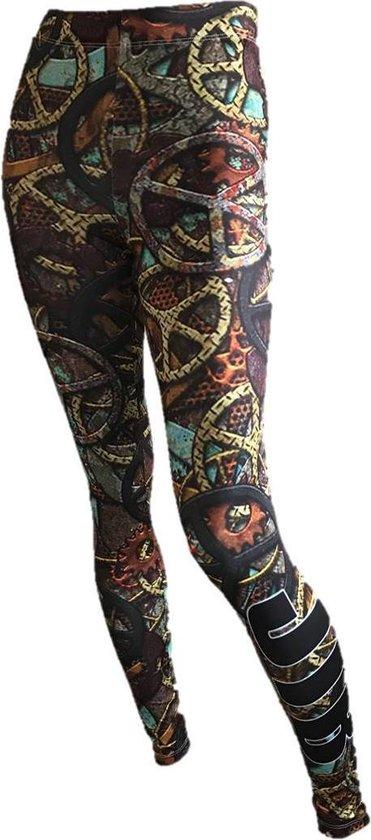 jtb-store - high waist sport legging yogalegging dames  - fantasy print  - maat XL