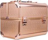 Aluminium Koffer Rosé Gold- Visagie koffer - Cosmetica koffer - Beauty case - Nagelstyliste koffer - make up case