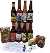 Bier- en borrelpakket - 8 streekbieren Nederland + Rotterdamsche oude kaas, kaasbollen en mosterd dille + opener + bierboekje
