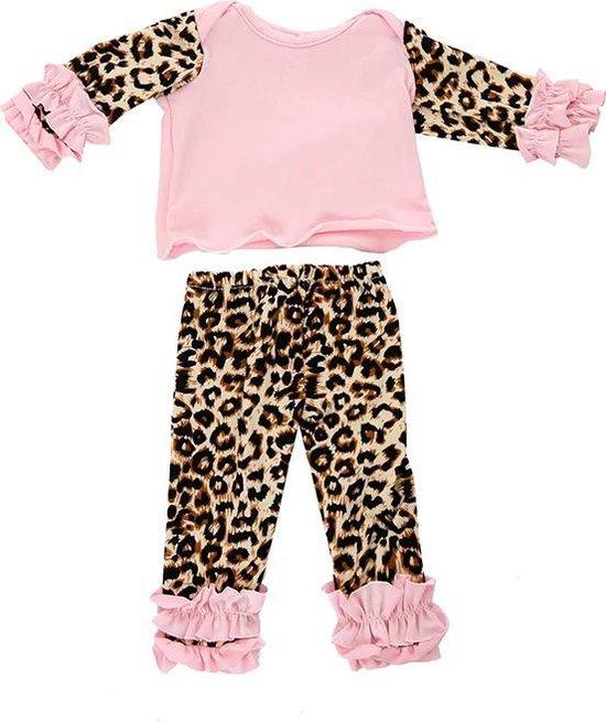 Top met luipaardprint Panter | roze van Set op www