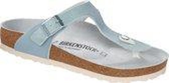 Birkenstock - Gizeh Washed Metallic Mineral regular - maat 38