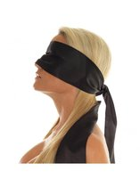 Blinddoek ook voor Bondage – Zwart Satijn – 150 cm