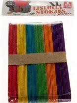 IJslollystokjes XXL - Multigekleurd - Knutselen met kinderen - 50 stuks