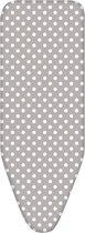 Bluvardi Strijkplankovertrek-ELASTIEK- XXL -150x58 cm-Dots-silver