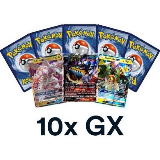 Afbeelding van het spel 10x willekeurige Pokémon Kaarten GX of EX - Inclusief 10 GRATIS Hoesjes - Geen Energy / Trainer Kaarten