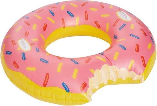 Roze opblaasbaar donut zwemband / zwemring 104 cm - Zwembanden - Zwemringen