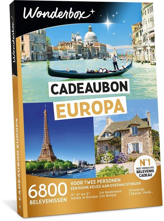 Wonderbox Cadeaubon - Cadeaubon Europa