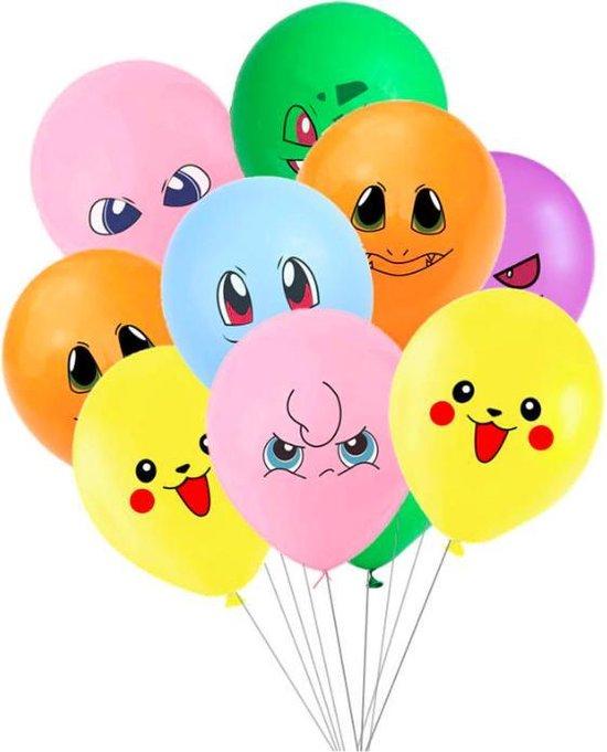 10x Pokemon Balonnen - verjaardag Pokémon - Ballonnen - ballonnen verjaardag