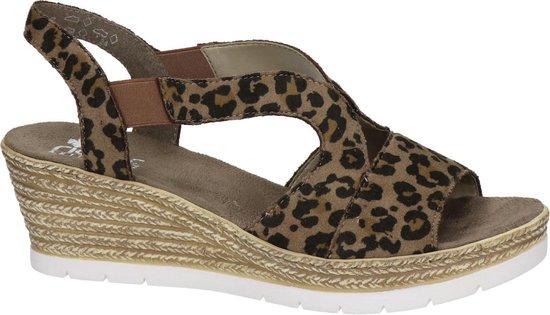 Rieker dames sandaal Leopard Maat 42