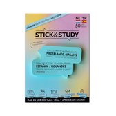 Stick and Study – Spaans leren met sticky notes! - 50 vel - NEDERLANDS / SPAANS - vakantie editie - - Blauw