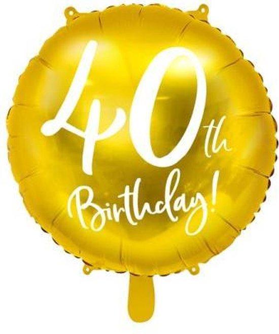 Folieballon 40 Jaar – 40 Jaar Versiering – Goud