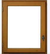 Venster 1 blad naar links - H.75 x W.80 cm - Exotisch hout