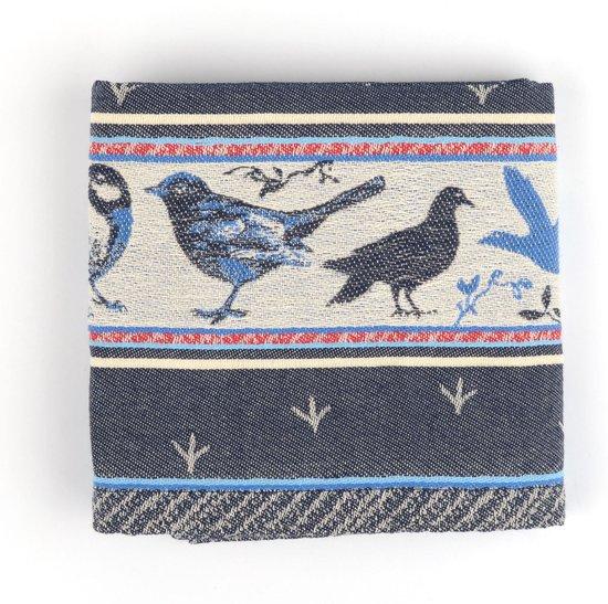Theedoek Bunzlau Castle Birds 65x65cm, blauw - 6 pack