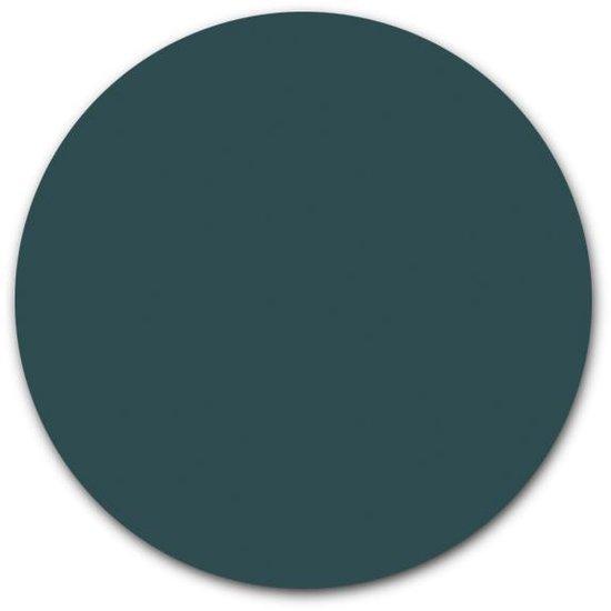 Ronde muursticker effen kleur | 140 cm | Behangsticker Petrol wandcirkel | Herpositioneerbare wandsticker | Muurcirkel in uni kleuren