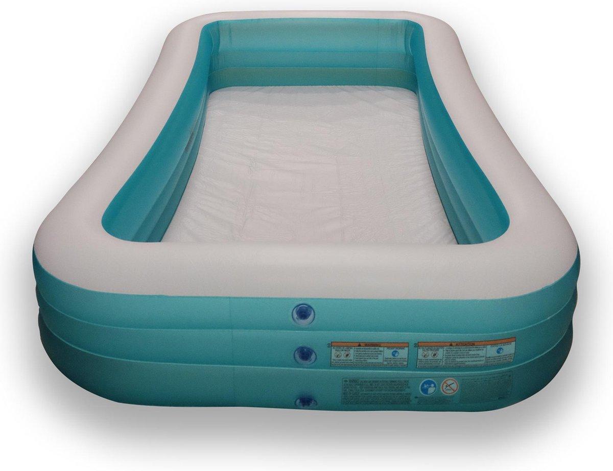 Opblaasbaar Zwembad Rechthoekig Blauw - 305x183x56 cm - Intex Familiezwembad - Zwembad voor in de Tuin