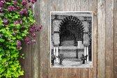 Een gedetailleerde illustratie van het Koninklijk Paleis van Sevilla tuinposter 60x80 cm - Tuindoek / Buitencanvas / Schilderijen voor buiten (tuin decoratie)