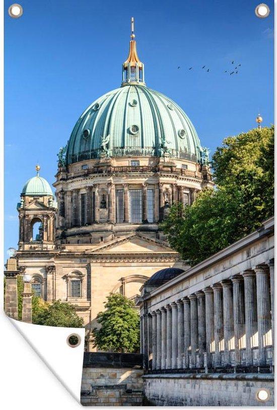 Berliner Dom in Duitsland bij het Museuminsel tuinposter 80x120 cm - Tuindoek / Buitencanvas / Schilderijen voor buiten (tuin decoratie)