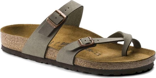 Birkenstock Mayari stone regular slippers dames Maat 36