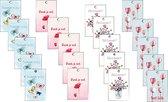 cadeaulabels bloemen - gifttag - bedankt - minikaartje - dank je wel - cadeaukaartjes