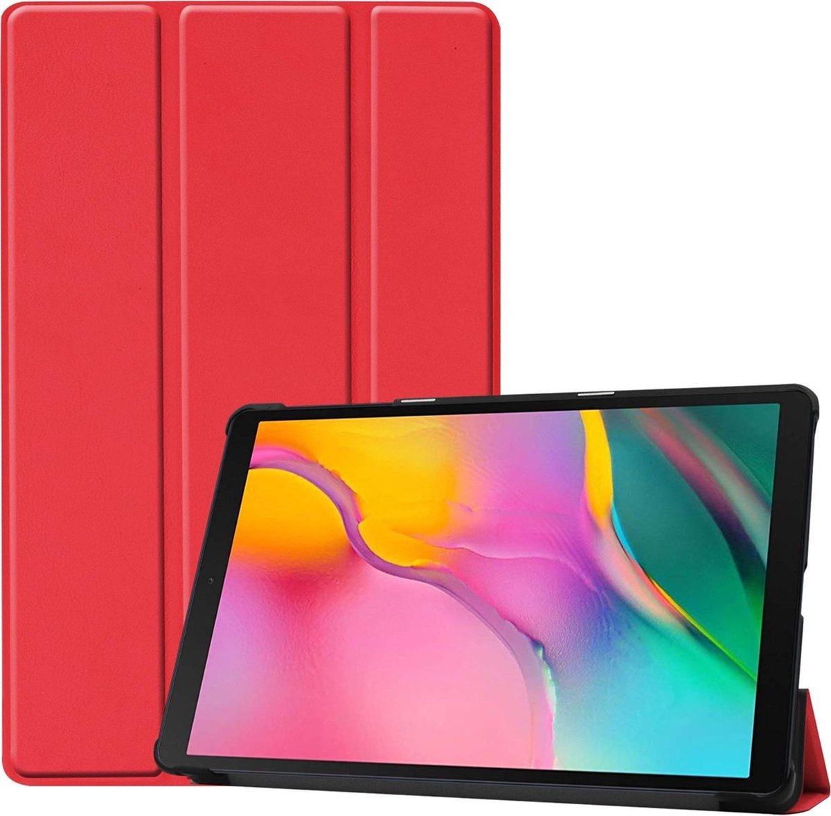 Afbeelding van product iMoshion Trifold Bookcase Samsung Galaxy Tab A 10.1 (2019) tablethoes - Rood