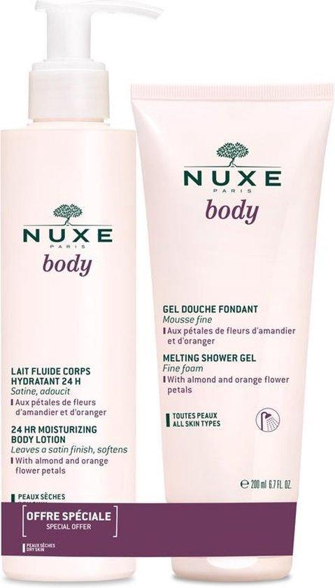 NUXE Huidverzorgende Body milk 400 ml + douche gel 200 ml
