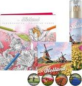 Holland Tulpen Kleur Kaarten Potloden Magneet Pakket