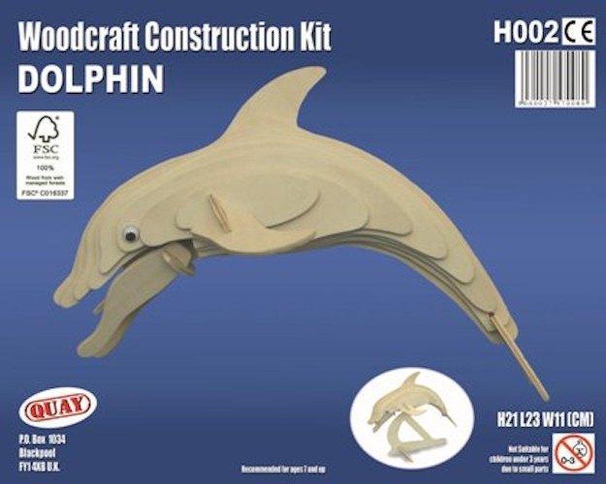 Bouwpakket 3D Puzzel Dolfijn - hout