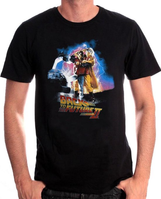 Back to the Future II - Poster Black T-Shirt M