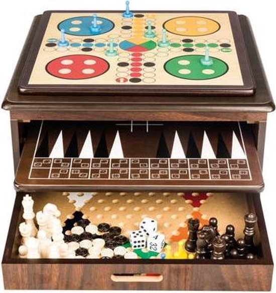 Afbeelding van het spel 10 spellen in 1 luxe houten box