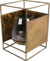 Van Manen Windlicht Mion Small 10x10x14 Cm Metaal/glas Goud