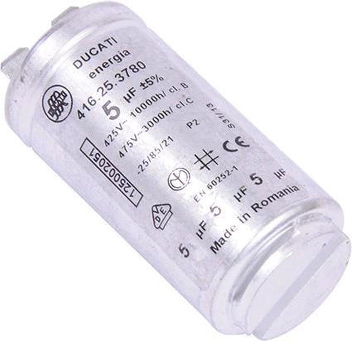 Condensator 5UF 5 uf aanloopcondensator wasdroger droger origineel Aeg Electrolux