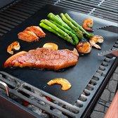 Barbecue expert Barbecuemat - Set van 3 BBQ matjes - Herbruikbaar en niet-klevend/ Ovengrillmat/ Barbecue