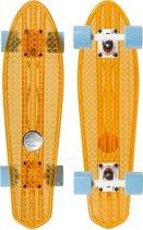Skateboard Penny Board Volwassenen/Kinderen/Jongens/Meisjes  - Choke - Dirty Harry Clear Orange - Doorzichtig - 58,5 cm - 23 inch - Polypropeen