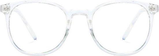 Computerbril - Anti Blauwlicht Bril - Rond Retro Model - Transparant