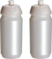 2 x Tacx Shiva Bidon - 500 ml - Parelmoer - Drinkbus
