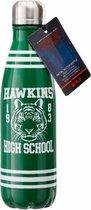 Stranger Things Hawkins High School metal water bottle