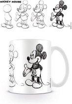 DISNEY - Mug - 300 ml - Mickey Mouse Sketch Process